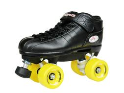 NEW! Riedell R3 Outdoor Quad Speed Roller Skates Black w/ Ye