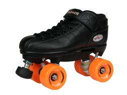 NEW! Riedell R3 Outdoor Quad Speed Roller Skates Black w/ Or