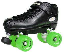 NEW! Riedell R3 Outdoor Quad Speed Roller Skates Black w/ Gr