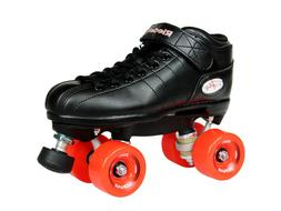 NEW! Riedell R3 Outdoor Quad Speed Roller Skates Black w/ Re