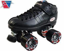 NEW Riedell R3 Black Quad Roller Derby Speed Skates!