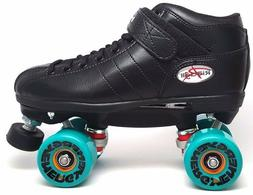 NEW Riedell R3 Energy Outdoor Quad Roller Speed Skates Black