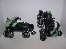 NEW ROCK GREEN EXPRESSIONS ROLLER SKATES MENS SIZE 9