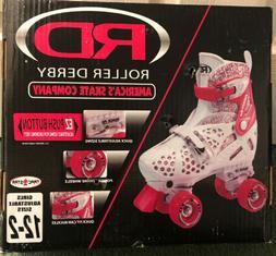 NEW RD Roller Derby Roller Skates #1971 Pink Girls Adjustabl