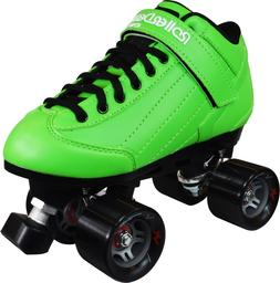 NEW! ROLLER DERBY STOMP 5 ELITE GREEN MEN's 9/WOMEN's 10 QUA