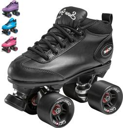 New! Sure-Grip Cyclone Quad Roller Speed Skates Pink, Black,