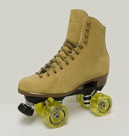 NEW SURE GRIP VINTAGE TAN SUEDE INDOOR ROLLER SKATES - MEN'S