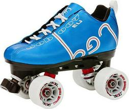 NEW! LABEDA VOODOO U3 BLUE QUAD SPEED ROLLER SKATES MENS sz