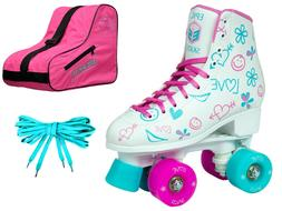 New! Childrens Epic Frost High-Top Quad Roller Skates 3 Pc.
