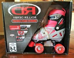 NIB Roller Derby BOYS Adjustable Skates SIZE 3-6 RED