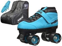Epic Skates Epic Nitro Turbo Blue Quad Speed Roller Skates P