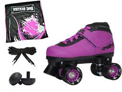 Epic Nitro Turbo Purple Indoor Outdoor Roller Speed Skates W