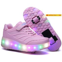Nsasy Roller Shoes Roller Skates Shoes Girls Boys Wheel Shoe