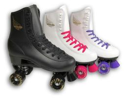 Owlsome Roller Derby Skate Size 1-9 Black White Purple Pink