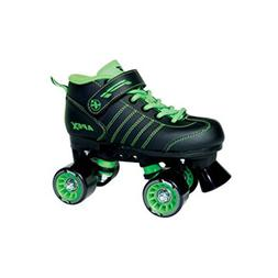 Apex P1 Children Roller Skates Black and Green Size 2