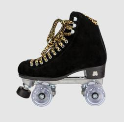 Moxi Panther Roller Skates Black Suede Riedell Lolly Size 7