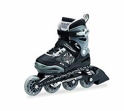PHOENIX - 4 Size Adjustable Junior Skate 2016 , Black/Silver