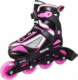 Pink & Black Lenexa Venus Adjustable Kids Indoor Outoor Inli