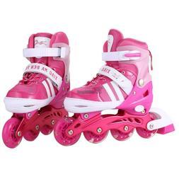 Pink-Blue Boys Girls Roller Blades Inline Skates Adjustable