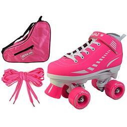Epic Skates Epic Pink Galaxy Elite Quad Roller Skate 3-piece