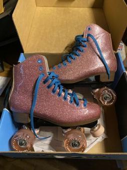 Pink Stardust roller skates, Men's size 7