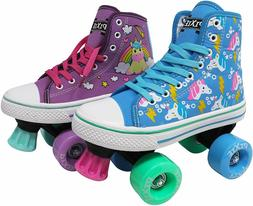 Lenexa Pixie Unicorn Kids Roller Skates Girls Quad Roller Sk