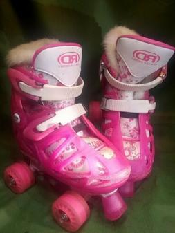 """Roller Derby """"Princess"""" Skates w/ Quick-Fit Adjustment For S"""