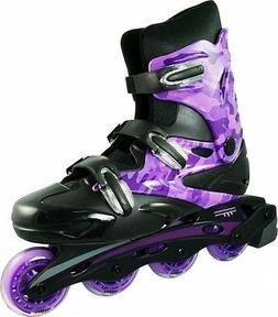 Linear Purple Camo Inline Skates - Indoor Outdoor Roller Bla