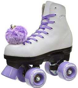 Girls Epic Purple Princess Indoor Outdoor Quad Roller Skates
