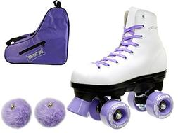 Epic Skates Epic Purple Princess Quad Roller Skates 3-piece