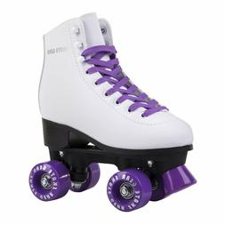 Skate Gear - Quad Roller Skates | Unisex - White / Purple