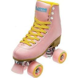 Impala Sidewalk Quad/Roller Skate Pink/Yellow-WOMEN 7