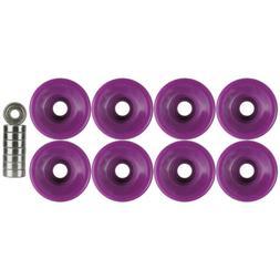 Quad Wheels Derby Roller Skate 57mm x 32mm Purple With Beari