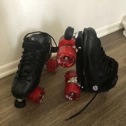 Riedell R3 Roller Skates With Upgraded Outdoor Atom Pulse Wh