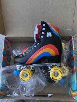 Moxi Rainbow Rider Roller Skates Black Size 6  READY TO SHIP
