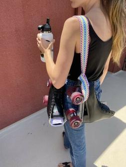 Rainbow Roller Skate Leash Strap Sling 100% cotton handmade