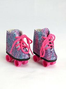 "Rainbow Roller Skates For 14.5"" Wellie Wishers American Girl"