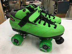 Rebel Skates Roller Skates Green SG-6888 Sure Grip size 8