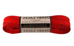 Derby Laces Red 72 Inch Waxed Skate Lace for Roller Derby, H