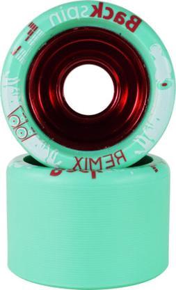 Backspin Remix Roller Skate Wheels - Aluminum Hub Grippy Fas
