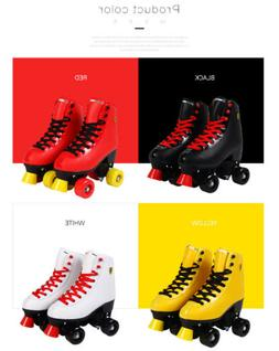 Retro Artistic Roller Skates High Top Leather Boots Indoor O