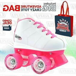 Crazy Skates | ROCKET Girls Kids Ladies Roller Quad Speed Ro