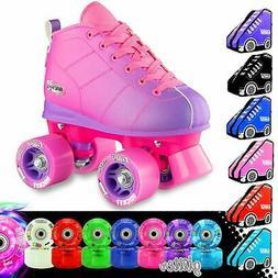 ROCKET Kids Girls Ladies Speed Roller Skates | Light Up LED