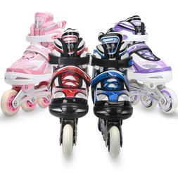 Roller Blades for Kids Girls Boys Adjustable Inline Skates L