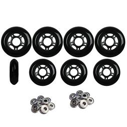 Player's Choice Inline Skate Wheels HILO SET 72mm 80mm 82A B