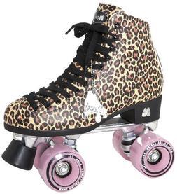 Moxi Roller Skates Ivy Roller Skates,Brown Leopard,4