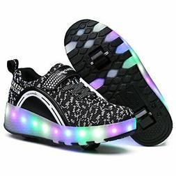 Nsasy Roller Shoes Girls Boys Wheel Shoes Kids Roller Skates