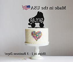 Roller Skate Cake Topper with FREE Keepsake Base, Birthday P