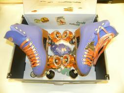 Moxi Roller Skates Beach Bunny Periwinkle Sunset Size 4 Comp