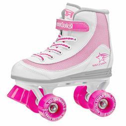 Roller Skates Firestar Girls Skates Size White Pink Youth 4